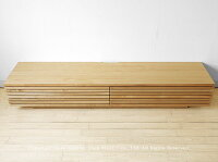 開梱設置配送JOYSTYLE限定モデル幅210cmタモ材タモ無垢材タモ天然木木製のテレビ台シンプルモダンデザインローボード格子扉格子デザインのテレビボードGrid+210Natural