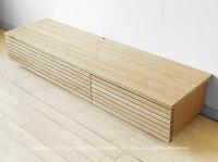 開梱設置配送JOYSTYLE限定モデル幅182cmタモ材タモ無垢材タモ天然木木製シンプルモダンデザインローボード格子扉格子デザインのテレビボードGrid+182.Natural引き出し付きナチュラル色