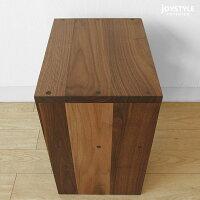 国産日本製ウォールナット材ウォールナット無垢材天然木木製テーブルシンプルで使いやすい引出付きのナイトテーブルサイドテーブルCORK-ST+引き出し付きネットショップ限定オリジナル設定