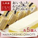 【花げしき】おいもっち(5個入)&なめらかキャラメルチーズ(5個入)【九州産さつまいものチーズケーキ】I83S06