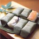 「寿司の町」大分佐伯 かわなみの柿の葉ずし鯖・鮭詰合せ(12個入)I80O07