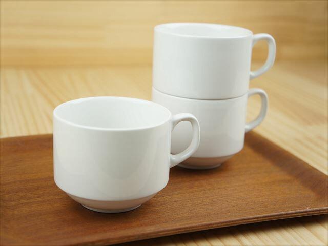 コーヒーカップ スタック 白【200cc】【一部、アウトレット品を含む】 706-11-37E