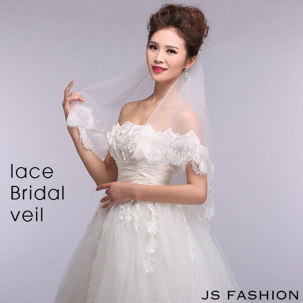 【今だけ値下】レースベール・ウェディングドレスに合わせて・結婚式・二次会・披露宴・ブライダル【150611】【JSファッション】【女子会】