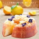 父の日 スイーツ レモンジュレ麹チーズケーキ 送料無料 食用花 エディブルフラワー