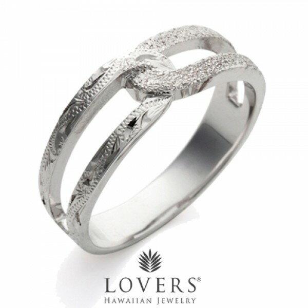 【LOVERS】ラバーズ CROSS RING STARDUST ハワイアンジュエリー シルバー リング ペア クロスリングスターダスト【楽ギフ_包装選択】