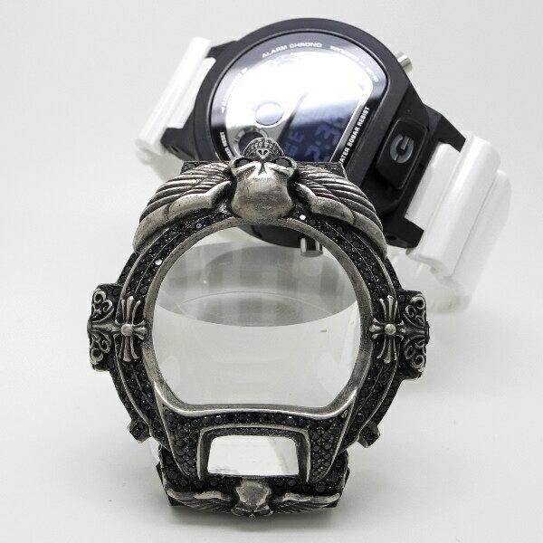 【Custom G-Shock カスタム Gショック ベゼル】ブラス メンズ腕時計【送料無料】真鍮 ウォッチ ジーショック G-SHOCK カバー ジルコニア CZ スラッシャー DW-6900【_包装選択】 【コンビニ受取対応商品】【送料無料】ラッピング無料!