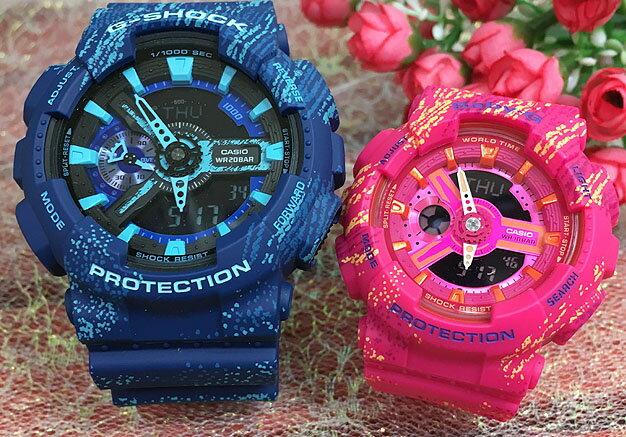 恋人たちのGショック ペアウオッチ G-SHOCK BABY-G ペア腕時計 カシオ 2本セット gショック ベビーg アナデジ GA-110TX-2AJF BA-110TX-4AJF人気 ラッピング無料 g-shock 赤 レッド青 ブルーあす楽対応 クリスマスプレゼント