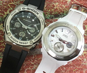 好きだよ恋人たちのGショックペア G-SHOCK BABY-G ペアウォッチ ペア腕時計 カシオ 2本セット gショック ベビーg アナデジ GST-W110-1AJF BGA-220-7AJF 人気 ラッピング無料