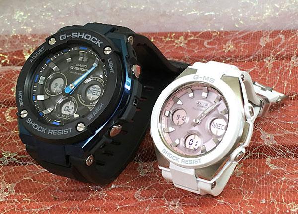 Gショック ペア G-SHOCK BABY-G ペアウォッチ ペア腕時計 カシオ 2本セット gショック ベビーg アナデジ GST-W300G-1A2JF MSG-W100-7A3JF 人気 ラッピング無料 あす楽対応