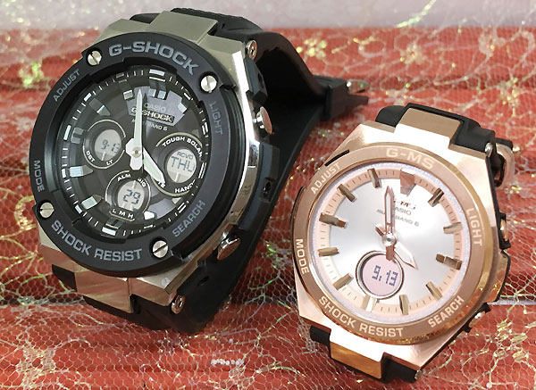 Gショック ペアウォッチ G-SHOCK BABY-G ペア腕時計 カシオ 2本セット gショック ベビーg アナデジ GST-W300-1AJF MSG-W200G-1A1JF 人気 ラッピング無料 あす楽対応 クリスマスプレゼント