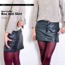 [free shipping] [Dil se] goat leather box miniskirt / black [N209] Lady's / real leather / mini-ska / blogger / goat leather / skirt [easy ギフ _ packing] [easy ギフ _ Messe input] [_ Kinki tomorrow for comfort]