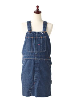 USED リメイクデニムミニオーバーオールワン piece vintage overalls up remake denim skirt/mini/one-piece/one-piece