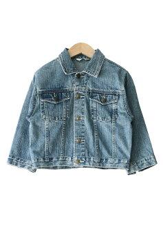 USED リメイクデニム short jackets clothing brand denim jacket in short-length remake G ladies ' kids ' and junior 7, Jean, odd-length / sleeves