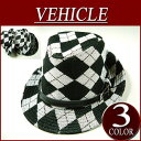 [a special price!all three colors] argyle pattern knit soft felt hat hat men hat with ii521 new article VEHICLE PU fake leather belt