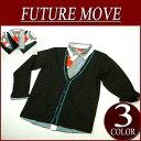 【3色2サイズ】ni081 新品 FUVE FutureMove フェイクレイヤード シャツ カーディガン サロン系 【FUTURE MOVE】