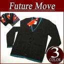 【2010春 3色2サイズ】no142 新品 Future Move フェイクレイヤード カーディガン アメカジ FUVE FutureMove サロン系