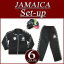 [six colors of 3 super special price size] or101 new article JAMAICA regular fitting raster jersey top and bottom set men Jamaica setup [smtb-kd]