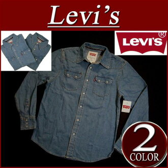 af071 brand new Levis denim Western shirt men's US line Levi's CLASSIC DENIM SAWTOOTH WESTERN SHIRT Long Sleeve Denim Levi's
