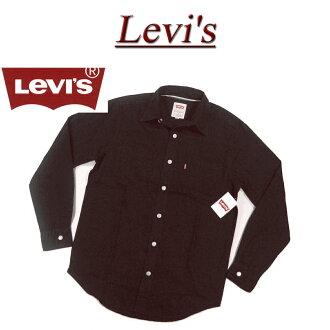 af082 品牌新 Levis 棉斜紋工作襯衫黑色男裝美國線 Levi's 棉斜紋經典 WORKSHIRT 黑色長短袖樸素 t 恤 Levi's