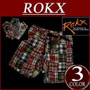 【3色4サイズ】 rx281 新品 ROKX ロックス インディアンマドラスチェック パッチワーク クライミング ショートパンツ RXM022 PATCHWORK SHORT メンズ アメカジ クライミングパンツ ショーツ ハーフパンツ アウトドア 【smtb-kd】