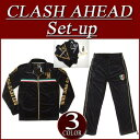 [three colors of 3 size] ix901 new article Clash Ahead lily crest logo lam print velour jersey top and bottom set men setup jersey top and bottom all-in-one