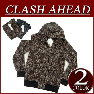 iy221 brand new Clash Ahead faux fur Leopard pattern double parka mens animal casual Leopard hood parka Leopard pattern ClashAhead