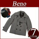 [2012 seven colors of 3 model size in the fall and winter] the orthodox school of 65% of nw682 new article Beno wool plain fabric melton wool shortstop length P coat men pea coat shadow stripe lining jacket American casual shortstop [smtb-kd]!