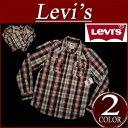 【2013秋冬モデル 4サイズ】 ay191 新品 Levis 長袖 チェック ウエスタンシャツ メンズ USライン リーバイス WESTERN SNAP FRONT LS SHIRT BIKING RED チェックシャツ Levi's 【smtb-kd】