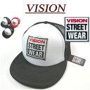 【3色】 nx911 新品 VISION STREET WEAR ロゴ ワッペン付 ツートンカラー スナップバック メッシュキャップ 4410003 メンズ ヴィジョン ストリートウェア ビジョン 帽子 アメカジ