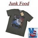 【US規格 5サイズ】 az971 新品 JUNK FOOD USA産 DISNEY MICKEY MOUSE ミッキーマウス 半袖 Tシャツ メンズ ディズニー ジャンクフード ティーシャツ JunkFood MADE IN USA