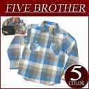 【5色4サイズ】 ib634 新品 FIVE BROTHER バッファローチェック エクストラ ヘビーネルシャツ 151486 メンズ 長袖 フランネルシャツ 長袖 ヘビーネルシャツ ファイブブラザー ワークシャツ ヘビネル Made in INDIA