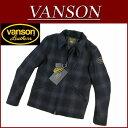 【5サイズ】 ny232 新品 VANSON メルトンウール オンブレチェック シングル ライダースジャケット NVJK-405 メンズ バンソン MELTON WOOL SINGLE RIDERS JACKET シリアルナンバー入り ワッペン付 ウールジャケット ヴァンソン 10P03Sep16