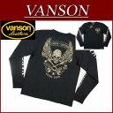【4サイズ】 ny341 新品 VANSON フライングスカル クロスボーン刺繍 ロンT NVLT-501 メンズ バンソン FLYINGSKULL CROSSBONE LONG SLEEVES T-SHIRT 長袖 ドクロ Tシャツ ヴァンソン 10P03Sep16