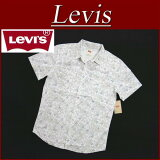 ��4�������� aa511 ���� Levi's US�饤�� Ⱦµ ���� ���������󥷥�� ��� �꡼�Х��� VOCKE FLOWER PRINT S/S WESTERN SHIRT-BUTTONS BRIGHT WHITE �������� Levis ��smtb-kd�� 10P03Sep16