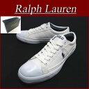 【6サイズ】 aa752 新品 POLO by Ralph Lauren CHURSTON CANVAS × SYNTHETIC LEATHER キャンバス ローカット スニーカー メンズ ホワイト シューズ RalphLauren ポロ ラルフローレン 10P03Sep16