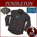 【3色5サイズ】 aa803 新品 PENDLETON SIR PENDLETON VIRGIN WOOL SHIRT FITTED チェック 長袖 ボタンダウ...