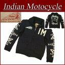 【4サイズ】 ja121 新品 INDIAN MOTOCYCLE ヘッドマーク フェルトレター フルジップアップ カウチンセーター IMKN-501 メンズ ウール ニット カーディガン インディアンモトサイクル IndianMotocycle 10P03Sep16