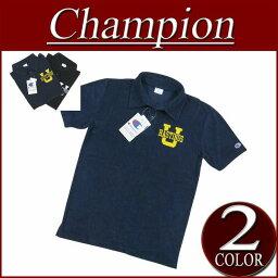 【6色3サイズ】 ja363 新品 Champion トリコロールタグ 刺繍入り 半袖 パイル地 ポロシャツ C3-H326 メンズ チャンピオン タオル地 ポロシャツ アメカジ トリコタグ