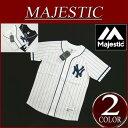 【2016春夏 2色3サイズ】 ja551 新品 MAJESTIC ニューヨーク ヤンキース ピンストライプ ラグランスリーブ ベースボールシャツ MM21-N...