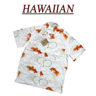 wu2310 brand new goldfish drum short sleeve rayon 100% Japanese Hawaiian shirts mens Aloha Hawaiian shirts (big size there!)
