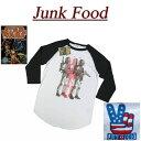 【2017春 US規格 5サイズ】 ab631 新品 JUNK FOOD USA産 スターウォーズ ボバフェット ラグランスリーブ 七分袖 Tシャツ S2945-7822 メンズ ジャンクフード BOBA FETT STAR WARS ティーシャツ JunkFood MADE IN USA 【smtb-kd】