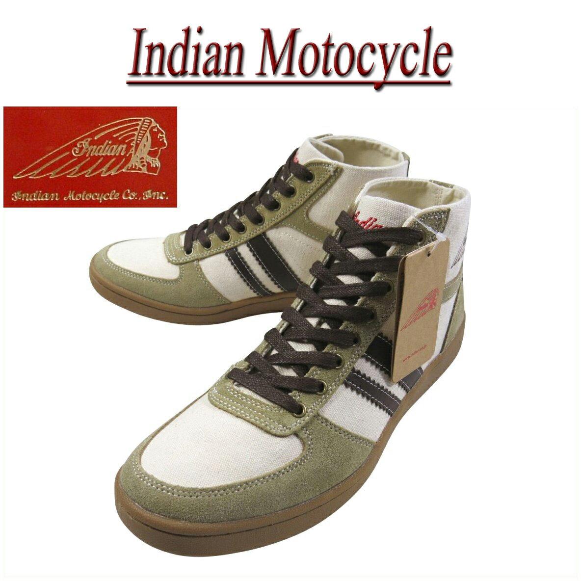 【9サイズ】 fw781 新品 Indian Motocycle FRANKELIII HI キャンバス×レザー ハイカット スニーカー IND-11432 IND-12432 メンズ & レディース フランケル3 ハイ インディアンモトサイクル シューズ IndianMotocycle