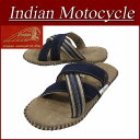 【2017春夏モデル! 3サイズ】 fw811 新品 Indian Motocycle HELM X ヘルム エックス ファブリック×レザー クロストング 編み込み サンダル IND-11002 メンズ インディアンモトサイクル 刺繍 IndianMotocycle
