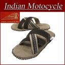 【2017春夏モデル! 3サイズ】 fw812 新品 Indian Motocycle HELM X ヘルム エックス ファブリック×レザー クロストング 編み込み サンダル IND-11002 メンズ インディアンモトサイクル 刺繍 IndianMotocycle