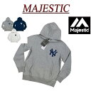 【20%off 3色5サイズ】 jb932 新品 MAJESTIC MLB ニューヨーク ヤンキース 裏起毛 プルオーバー スウェットパーカー MM06-NYK-0132 メンズ マジェスティック MLB OFFICIAL WEAR NY フェルトワッペン付