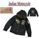 【4サイズ】 jc131 新品 INDIAN MOTOCYCLE ヘッドマーク刺繍 裏ボア フード脱着 N-1 デッキジャケット IMJK-701 メンズ インディアンモトサイクル チェーン刺繍 N1 ミリタリージャケット IndianMotocycle 【smtb-kd】