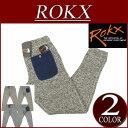 【2016秋冬 2色5サイズ】 ry181 新品 ROKX ロックス GOOSE PANT ミックス ニットフリース 裏起毛 テーパード スリムパンツ クライミングパンツ RXMF6301 メンズ アメカジ グースパンツ クライミングパンツ アウトドア