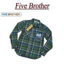 【2018秋冬 4色4サイズ】 jc531 新品 FIVE BROTHER 長袖 チェック ヘビーネルシャツ 151860 メンズ ファイブ...