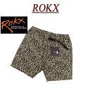【4サイズ】 ry312 新品 ROKX ロックス ANIMAL SHORT ヒョウ柄 ショートパンツ RXMS8201 メンズ レオパード アニマル柄 クライミングパンツ ハーフパンツ ショーツ