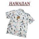 【7サイズ】 wu4425 新品 リーフ 花柄 半袖 レーヨン100% アロハシャツ メンズ アロハ ハワイアンシャツ 【smtb-kd】 (ビッグサイズあります!)